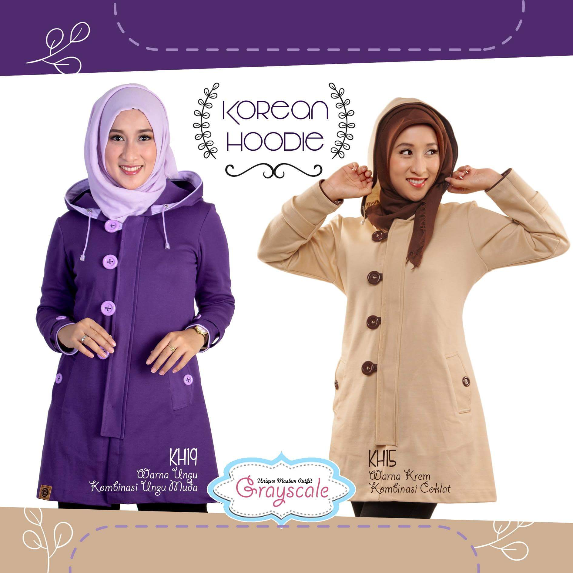 Grayscale hijab