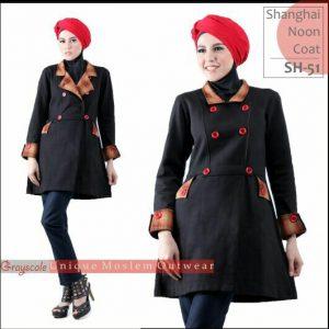 Shanghai Coat Muslimah SH 51 Grayscale