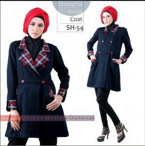 Shanghai Coat Muslimah SH 54 Grayscale