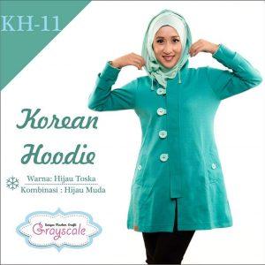Jaket Wanita Muslim Murah Grayscale
