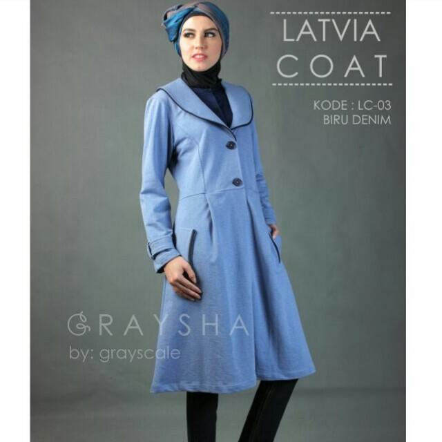 Desain Jaket Muslimah Latvia Coat