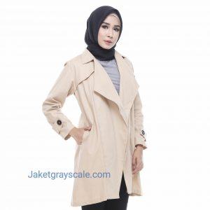 Grosir Outer Muslim Terbaru Baju Wanita Victoria Krem
