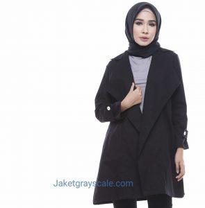 Outer Muslimah Blazer Wanita Terbaru 2017 Victoria Hitam