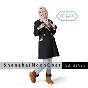 Distributor Baju Muslim Wanita Shanghai Coat Muslimah Hitam