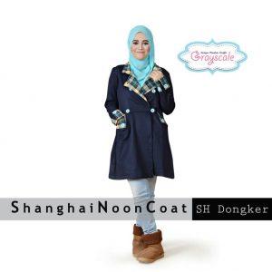 Grosir Baju Muslim Wanita Murah Shanghai Coat Muslim Dongker
