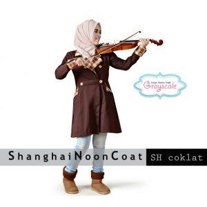 Agen Jaket Muslimah Online Shanghai Noon Coat Coklat