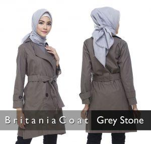 Jual Blazer Cewek Bandung Terbaru Britania Coat Grey Stone