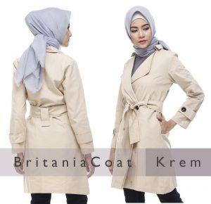 Jual Blazer Wanita Britania Coat Krem Coat Wanita Bandung