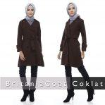 Jual Jaket Wanita Terbaru Murah Blazer Britania Coat Coklat