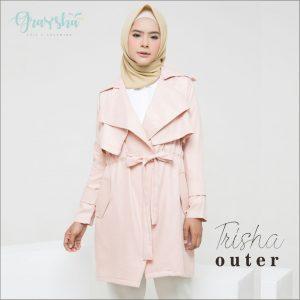 Jaket Wanita 2018 Terbaru Light Peach Trisha Outer Graysha