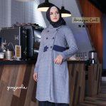 Grosir Jaket Perempuan Muslim Model Coat Amasya Coat Navy