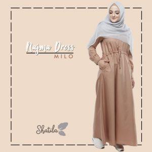 Grosir Dress Muslimah Remaja Terbaru Najma Dress Shatila Milo