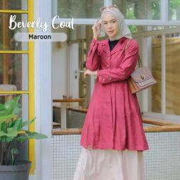Beverly Coat Maroon 3