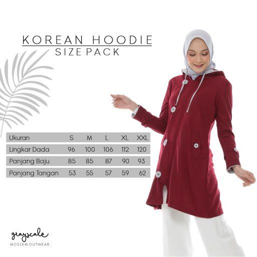 Korean Hoodie Jacket Size