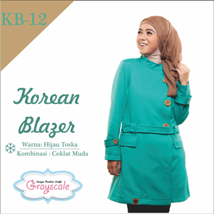 Jaket Terbaru Jaket Wanita Muslimah Blazer KB12