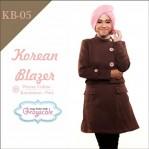 Jaket Terbaru Jaket Wanita Muslimah Blazer KB05