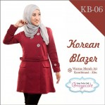 Jaket Terbaru Jaket Wanita Muslimah Blazer KB06