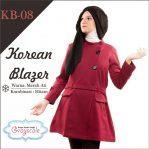 Jaket Terbaru Jaket Wanita Muslimah Blazer KB08