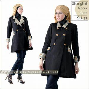 Shanghai Coat Muslimah SH 52 Grayscale