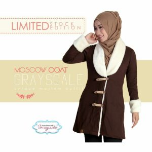 Moscow Coat Muslimah Grayscale