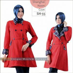 Shanghai Coat Muslimah SH 55 Grayscale