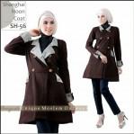 Shanghai Coat Muslimah SH 56 Grayscale