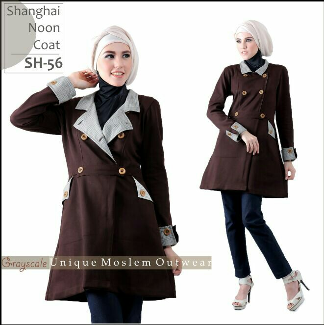 Shanghai Coat Muslimah SH 56