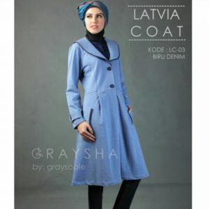 Jaket Grayscale Biru