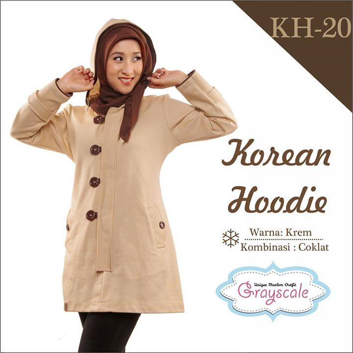 Grayscale Korean Hoodie