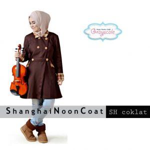 Grosir Baju Muslim Wanita Shangahai Coat Muslimah Coklat