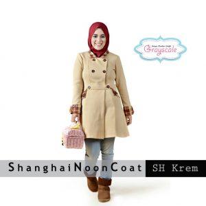 Jual Baju Muslim Wanita Shanghai Coat Muslimah Krem Grosir