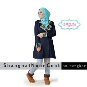 Order Jaket Wanita Shanghai Coat Muslimah Dongker Terbaru