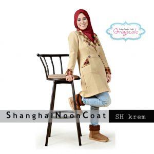 Toko Jaket Wanita Di Bandung Shanghai Coat Muslimah Krem