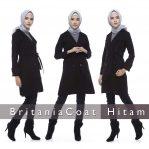 Jual Jaket Muslimah Online Model Baru Britania Coat Hitam