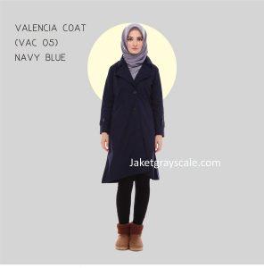 Jual Baju Coat Muslimah Valencia Coat Navy Blue VAC 05