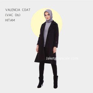 Jual Jaket Muslim Wanita Grosir Valencia Coat Hitam VAC 06