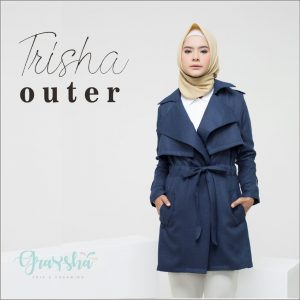 Jual Jaket Untuk Wanita Berhijab Trisha Outer Graysha Navy