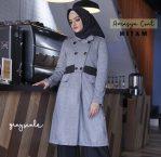 Jual Jaket Syari Muslimah Jaket Wanita Amasya Coat Hitam