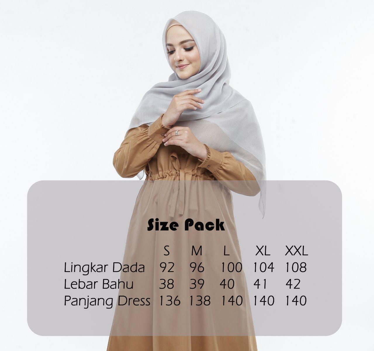 Ukuran Dress Muslim