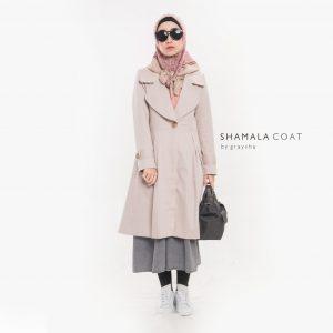 Jual Jaket Muslimah Terbaru 2018 Shamala Coat Muslim Graysha