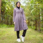 Beverly Coat Muslimah Grey