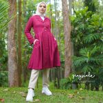Beverly Coat Maroon