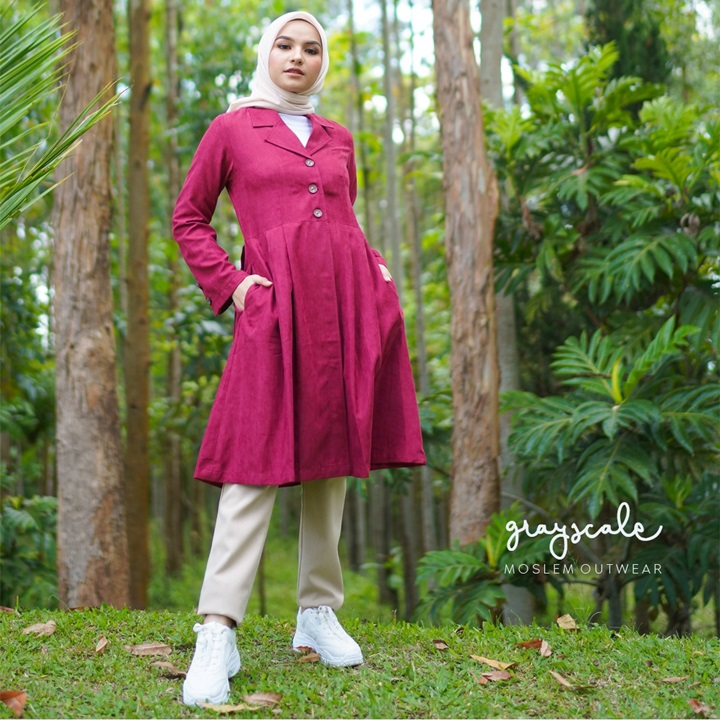 Beverly Coat Muslimah Red
