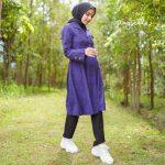 Beverly Coat Muslimah ungu
